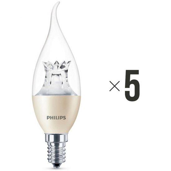 Komplet 5 żarówek LED 4 W (25 W) E14 biała ciepła 8718696453742 Philips