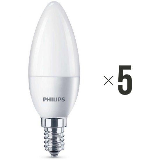 Komplet 5 żarówek LED 4 W (25 W) E14 biała ciepła 8718696474914 Philips