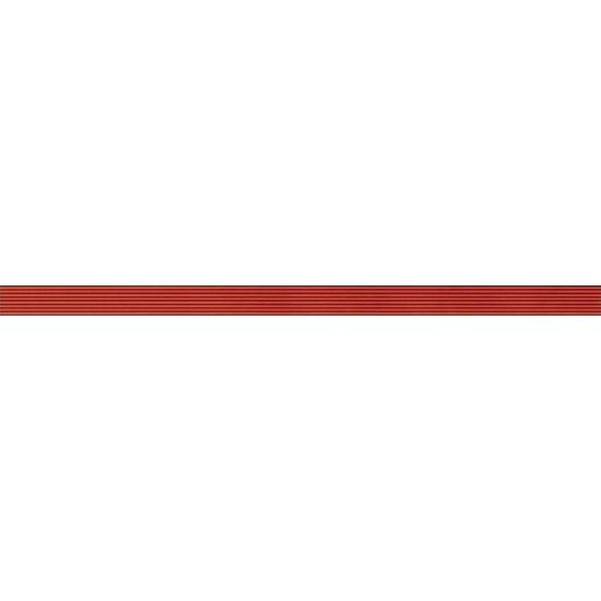 Płytka ścienna OXIA czerwona listwa szklana 2,5x50 gat. I