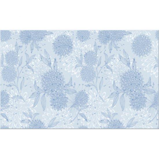 Płytka ścienna LAKKA niebieska inserto kwiaty błyszcząca 25x40 gat. I