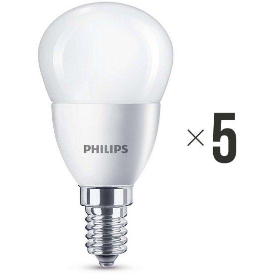 Komplet 5 żarówek LED 5,5 W (40 W) E14 biała ciepła 8718696475003 Philips