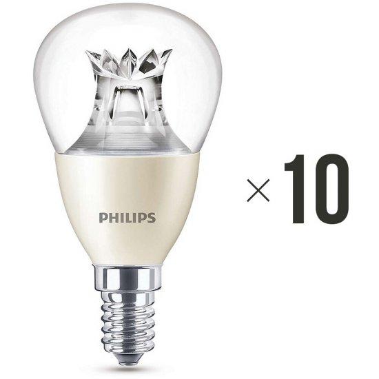 Komplet 10 żarówek LED WarmGlow 6 W (40 W) E14 biała ciepła 8718696453568 Philips