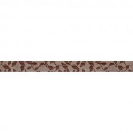 Płytka ścienna PERSEO brązowa listwa liście mat 5x59,8 gat. I