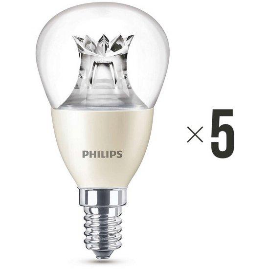 Komplet 5 żarówek LED WarmGlow 6 W (40 W) E14 biała ciepła 8718696453568 Philips