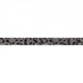 Płytka ścienna PERSEO szara listwa liście mat 5x59,8 gat. I
