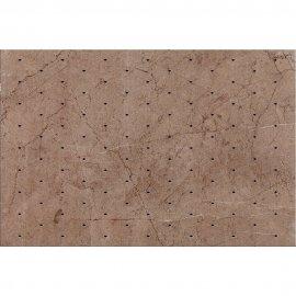 Płytka ścienna SENO brązowa inserto diamenty błyszcząca 30x45 gat. I
