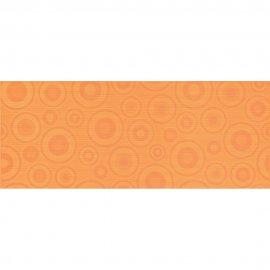Płytka ścienna SYNTHIA pomarańczowa inserto koła błyszcząca 20x50 gat. I