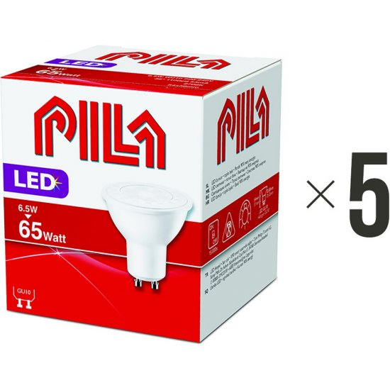 Komplet 5 sztuk żarówek LED 6,5W GU10 biała ciepła 8718696534205 Pila