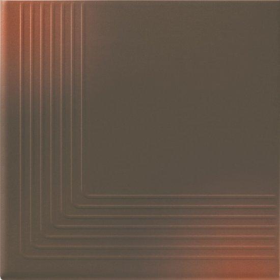 Klinkier SHADOW BROWN brązowy stopnica narożna mat 30x30 gat. II