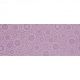 Płytka ścienna SYNTHIA fioletowa inserto koła błyszcząca 20x50 gat. I
