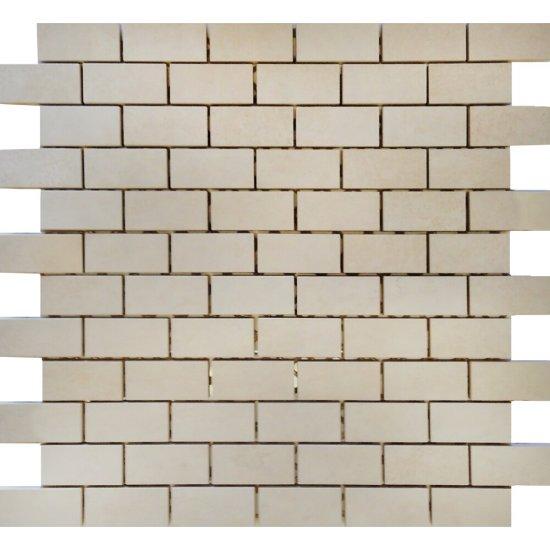 Mozaika STEEL biała 30x30 gat. I
