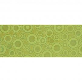Płytka ścienna SYNTHIA zielona inserto koła błyszcząca 20x50 gat. I