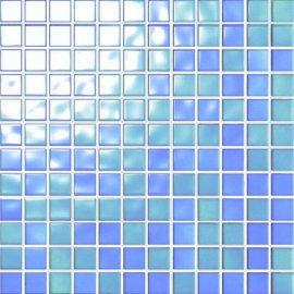 Mozaika PALETTE niebieska mix błyszcząca 30x30 gat. I