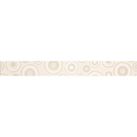 Płytka ścienna SYNTHIA biała listwa koła błyszcząca 5,3x50 gat. I
