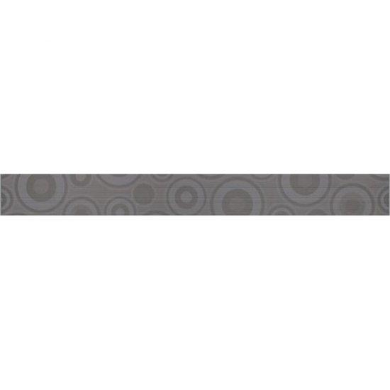 Płytka ścienna SYNTHIA szara listwa koła błyszcząca 5,3x50 gat. I
