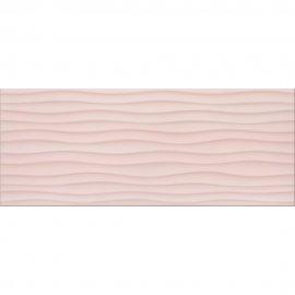 Płytka ścienna BUGI różowa struktura błyszcząca 20x50 gat. I