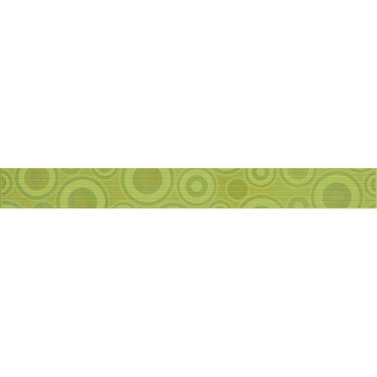 Płytka ścienna SYNTHIA zielona listwa koła błyszcząca 5,3x50 gat. I
