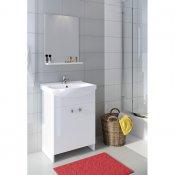 Szafka z umywalką w zestawie SATI CERSANIA 60 biała DSM