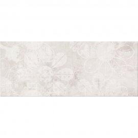 Płytka ścienna HERBI szara inserto kwiaty błyszcząca 20x50 gat. I