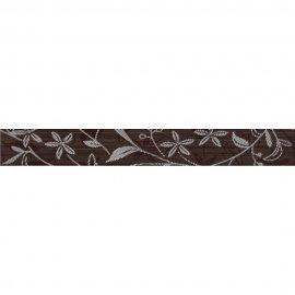 Płytka ścienna TANAKA brązowa listwa kwiaty mat 5x40 gat. I