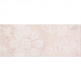 Płytka ścienna HERBI różowa inserto kwiaty błyszcząca 20x50 gat. I