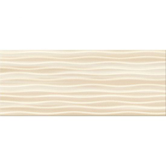 Płytka ścienna BUGI kremowa inserto geometric błyszcząca 20x50 gat. I