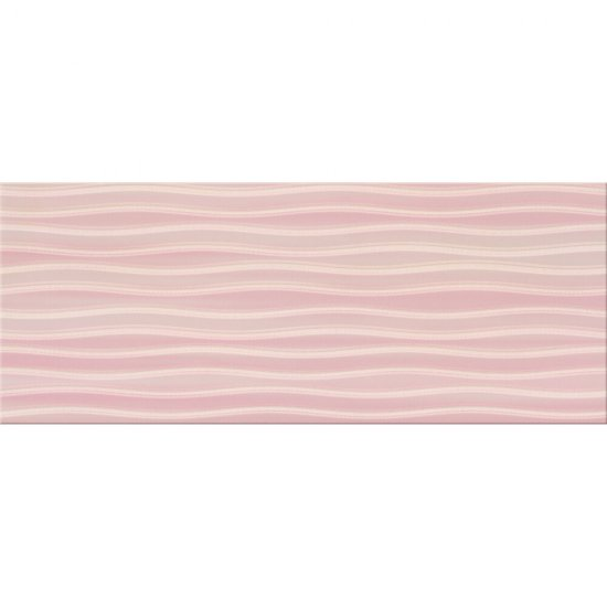 Płytka ścienna BUGI różowa inserto geometric błyszcząca 20x50 gat. I