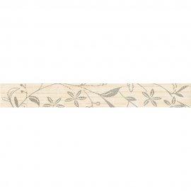 Płytka ścienna TANAKA kremowa listwa kwiaty mat 5x40 gat. I