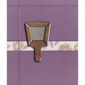Płytka ścienna SYNTHIA fioletowa listwa kwiatek błyszcząca 5,3x50 gat. I