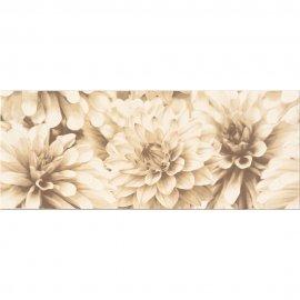 Płytka ścienna BUGI kremowa inserto kwiaty błyszcząca 20x50 gat. I
