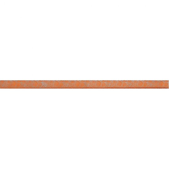 Płytka ścienna SYNTHIA pomarańczowa listwa szklana 2,5x50 gat. I