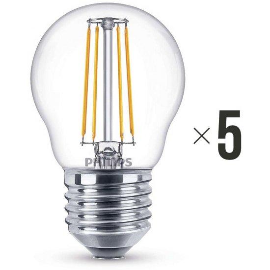 Komplet 5 sztuk żarówek LED 4 W (40 W) E27, 8718696587331 Philips
