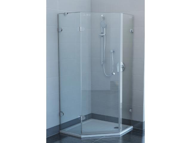 Kabina prysznicowa pięciokątna GLASSLINE GSH3-90 L, szkło transparentne 3KL77A00Z1 Ravak