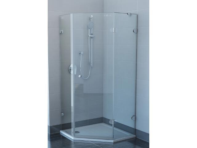 Kabina prysznicowa pięciokątna GLASSLINE GSH3-90 P, szkło transparentne 3KP77A00Z1 Ravak