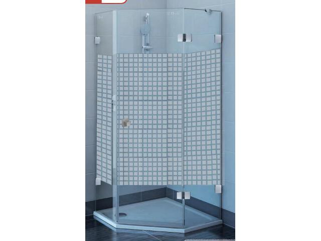 Kabina prysznicowa pięciokątna GLASSLINE MATRIX GSH3-90 P, szkło wzór 3KP77A00ZM Ravak