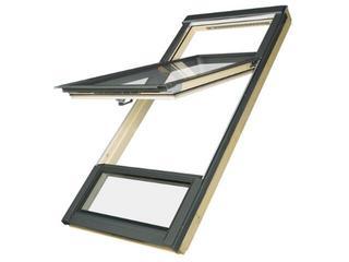 Okno obrotowe o podwyższonej osi obrotu FDY-V U3 78x186 (140/50) Fakro