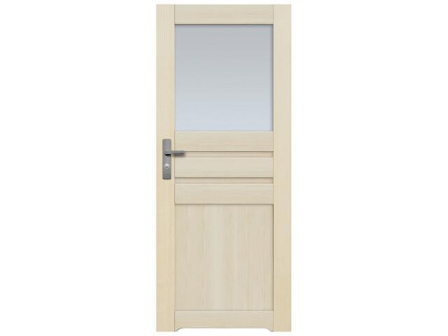 Drzwi sosnowe Madryt przeszklone 1 szyba 80 lewe z podcięciem wentylacyjnym Radex