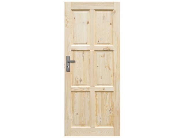 Drzwi sosnowe Czapla pełne 100 prawe Radex