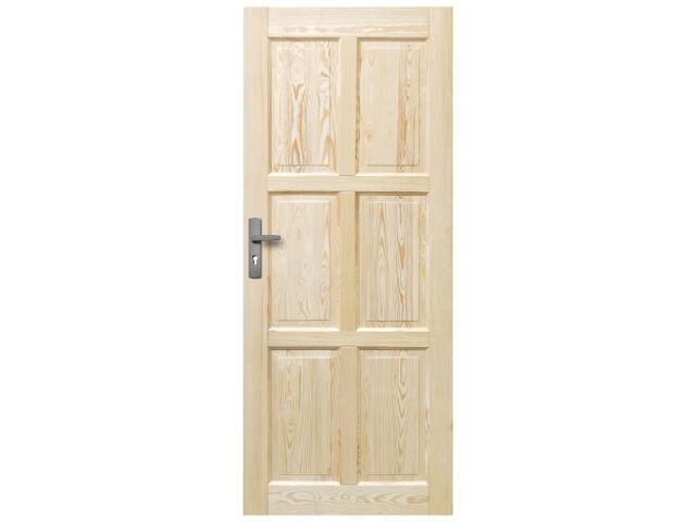 Drzwi sosnowe Czapla Plus pełne 60 lewe Radex