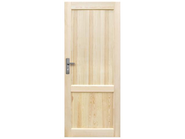 Drzwi sosnowe Perkoz pełne 90 prawe Radex