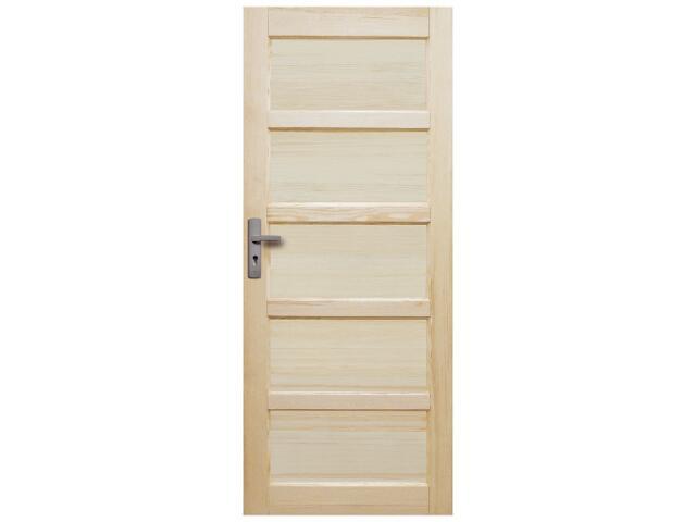 Drzwi sosnowe Iława Lux pełne 60 prawe Radex