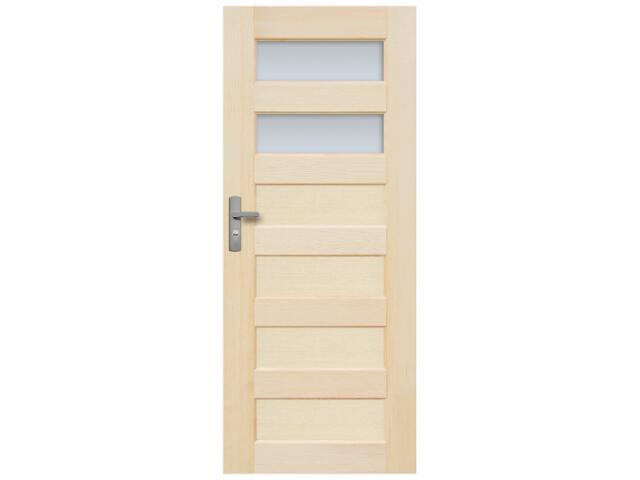 Drzwi sosnowe Manhattan przeszklone (2 szyby) 100 prawe Radex