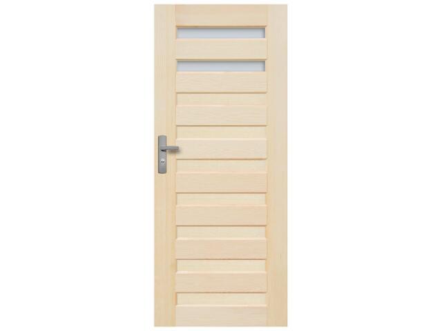 Drzwi sosnowe Regent przeszklone (2 szyby) 80 prawe Radex