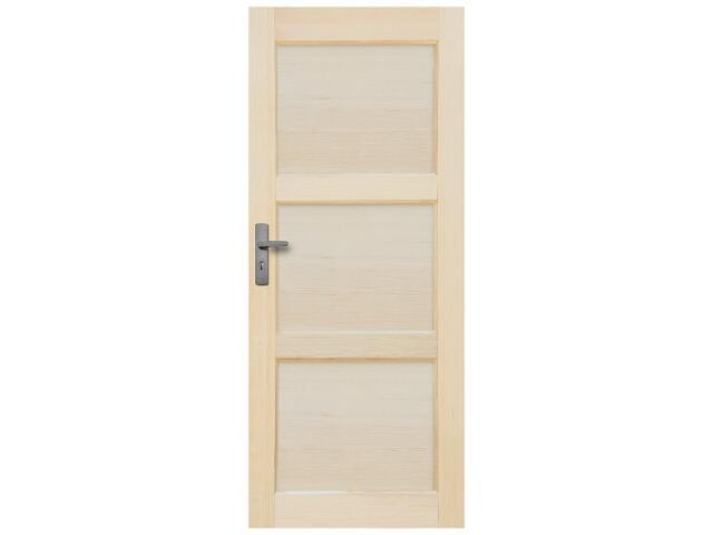 Drzwi sosnowe Bort pełne 80 prawe Radex