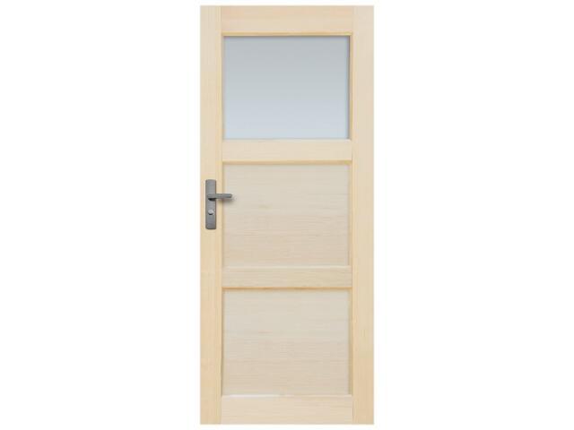 Drzwi sosnowe Bort przeszklone (1 szyba) 80 lewe Radex