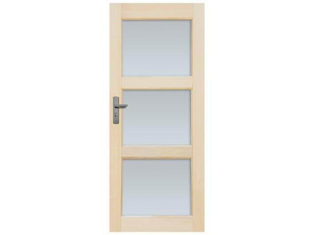 Drzwi sosnowe Bort przeszklone (3 szyby) 90 prawe Radex