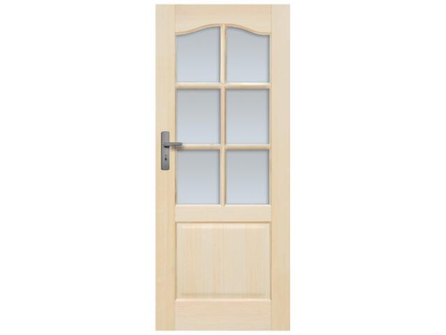 Drzwi sosnowe Tryplet przeszklone (6 szyb) 60 lewe Radex