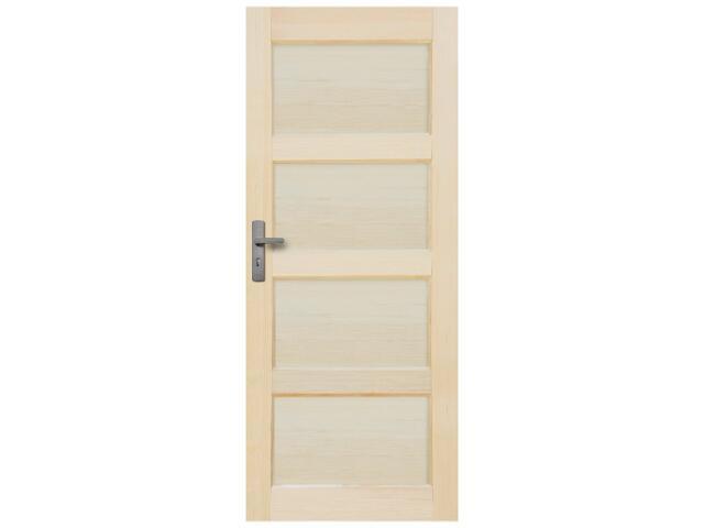 Drzwi sosnowe Obsydian pełne 90 lewe Radex