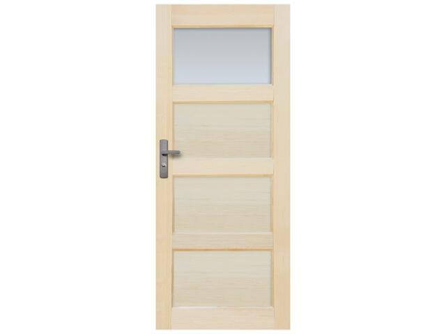 Drzwi sosnowe Obsydian przeszklone (1 szyba) 80 prawe Radex