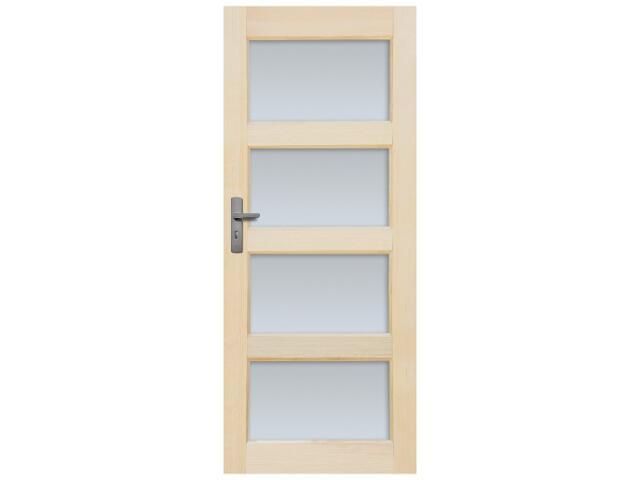 Drzwi sosnowe Obsydian przeszklone (4 szyby) 100 prawe Radex